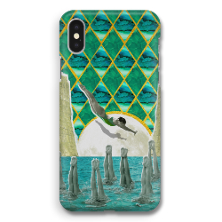 'Diving in the Moonlight' Phone Case